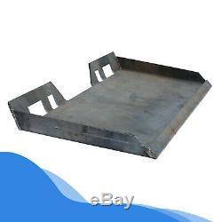 1/2 Tach Fixation Rapide Support De Plaque Avant Robuste En Acier Chargeur Plate