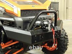 2013 Polaris Ranger Xp 900 Pare-chocs En Acier Avant Robuste Heavy Duty Black W Top Winch Mount