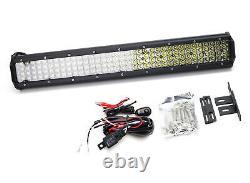 20 140 Led Light Bar Avec Derrière Grille Support, Câblages Pour 15 Jusqu'à Jeep Renegade