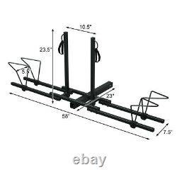 2 Bike Bicycle Carrier Platform Hitch Receveur 2 Camion Rack De Montage Lourd Us