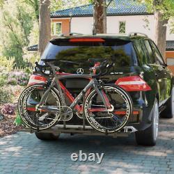 2 Vélo Porte-vélos Hitch Mount Rack Droit Lourd Porte-arrière Pour Voiture