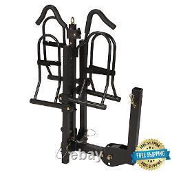 2-bike Rack 1300 Hitch Mount Heavy Dual Steel Carrier, 200 Lbs. Capacité