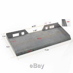 3/8 Plaque De Montage Skid Steer Pour Tracteur Rapide Tach Steel Plate Heavy Duty
