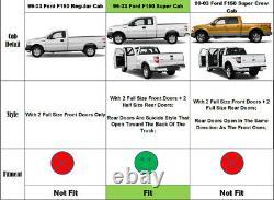 4 Planches De Course Pour 97-03 F150 97-99 F250 Super Cab Side Step Nerf Bars 2pcs
