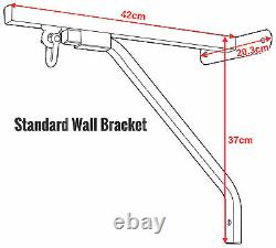 4fit Heavy Duty Punch Bag Wall Bracket Steel Mount Hanging Stand Boxing Hanger