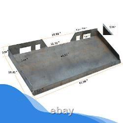 5/16 Plaque De Chargeuse Avant En Acier Lourd Quick Tach Attachment Mount Plate