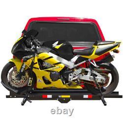 600 Lbs Transporteur De Motocycles Lourds Dirt Bike Rack Hitch Mount Hauler Avec Ramp