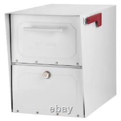Acier Lockable Post Mailbox Mount Parcelle Classic Locking Heavy Duty X-large