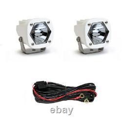 Baja Designs S1 White Pod Spot Laser Lights With Mounting Brackets 387807wt