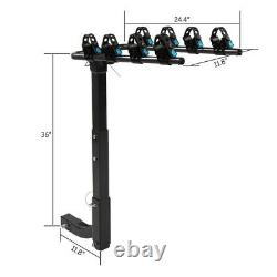 Barre De Remorquage Hitch Mount Rack For 4 Bikes Car Rear Heavy Duty Steel Bicycle Carrier