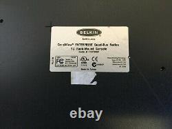 Belkin F1dc100p Noir Acier Résistant 1u Rackmount 15 LCD Rack-mount Console