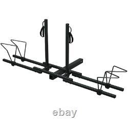 Bike Carrier Rack Car Truck Heavy Duty 2 Bicycle Mount Stand Platform Steel Nouveau