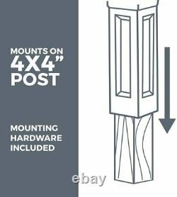 Boîte Aux Lettres Extra Large Rural Post Mount Pedestal Heavy Duty Rain Proof Box Noir