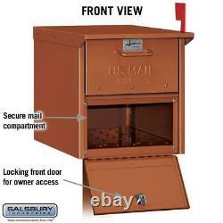 Boîte Aux Lettres Routière Post Mount Mailbox Heavy-duty Aluminium Extra Large C1 Cuivre
