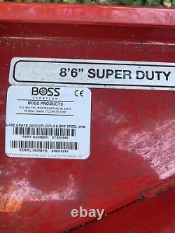 Boss Snow Plow Blade, Dk2, Mont, Nouveau! Américain, Fisher Super Duty, Led, Avecreceipt
