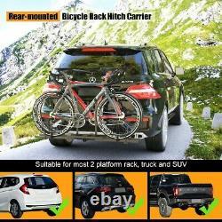 Chariot De Vélo Lourd Mont Hitch Pliant Pliant Camion Rembourré Vus Acier Montage