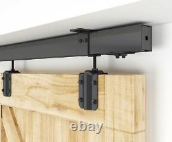 Diyhd Black Box Rail Heavy Duty Ceiling Mount Sliding Barn Door Hardware