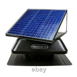 Économie D'énergie Réglable De Poids Lourd 40w Ventilateur De Toit Solaire Et Électrique
