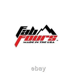 Fab Fours Fs11-n2550-1 Black Steel Winch Mount Withpowder Coat For Ford Super Duty
