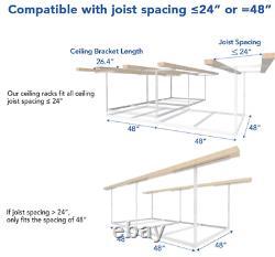 Garage De Rangement Garage Plafond Supérieur Réglable 4x8 Ft Supports Lourds Nouveau