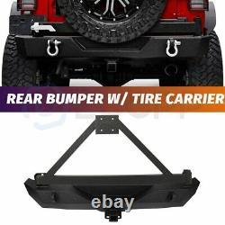 Garde Arrière Avec Porte-pneus Et 2x D-anneaux Pour Jeep Wrangler Jk 2007-2018