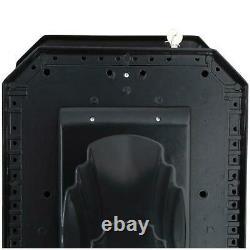 Grand Piédestal Verrouillage Boîte Aux Lettres Post Mount Combo Heavy-duty Cast Aluminium Noir
