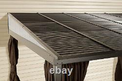 Heavy Duty Metal Gazebo Wall Mount Kit Extérieur Sun Shade Shelter Pergola 10x12ft