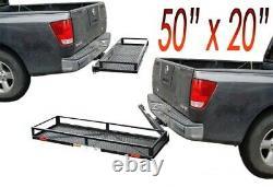 Heavy Duty Swing Away Remorquage Hitch Mount Cargo Carrier Luggage Basket 50x20