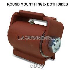 Heavy Duty Welding Steel Driveway Gate Hinge Swing Industrial Round Mount 2 Paire