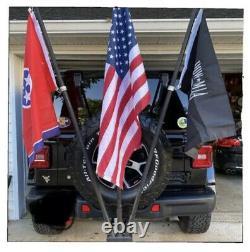 Jeep Heavy Duty 3 Porte-drapeau Attelage Mont D'attelage Pour Les Véhicules Montés Sur Pneus Arrière