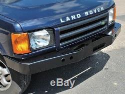 Land Rover Discovery 2 1999-2004 Robuste En Acier Avant Pare-chocs Avec Treuil Mont