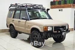 Land Rover Discovery 2 Pare-chocs Avant Robuste En Acier Avec Treuil Mont Da5645 Nouveau