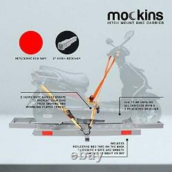 Mockins Gray Hitch Monted Motorcycle Carrier The Heavy Duty Steel Dirt Bicycle
