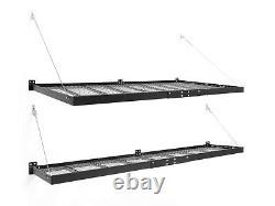 Newage Wall Shelf Mounted Steel Support Heavy Duty Bracket Metal Rack Floating