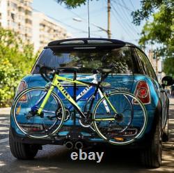 Nouveau Poids Lourd 2 Voiture De Vélo Camion Vus 2 Hitch Mount Carrier Plate-forme Sac À Vélo