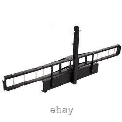 Nouveau Sh 1502 Heavy Duty Hitch Mounted Steel Motorcycle Carrier Max Load 500lbs