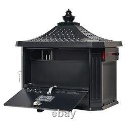Pieux Mont Noir Boîte Aux Lettres Avec Postes Piédestal Robuste En Aluminium Moulé Stand