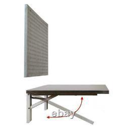 Pliant Workbench Wall Mount Avec Peg Board Space Saver Stainless Heavy Duty Nouveau
