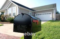 Post Mount Mailbox Storehouse Extra Large Heavy-duty Galvanized Steel Home Noir