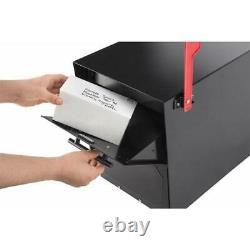 Post Mount Mailbox Verrouillage Noir Serrure Renforcée Lourde Trou Pré Foré