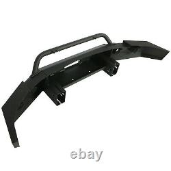 Pour 2007-2013 Chevy Silverado 1500 New Black Powder Coated Steel Front Bumper