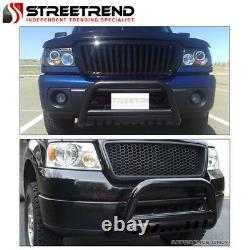 Pour 99-04 Ford F250/f350 Super Service Black Hd Bull Bar Bumper Grill Grille Garde