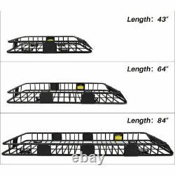 Rack De Toit Lourd Avec Extension Cargo Carrier Panier De Montage Universel