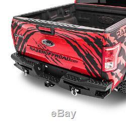 Raptor X Style De Pare-chocs Arrière + Étape Avec Twin Led Feu Arrière Bar Adapter 15-17 Ford F150