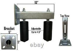 Réglable Faites Glisser La Porte Support De Montage Double Dur En Nylon Rouleaux Robuste En Acier