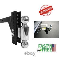 Remorque Réglable Hitch Dual Ball Mount Drop Remorquage Récepteur D'épingle De Camion De Service Lourd