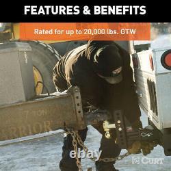 Support De Balle D'attelage Robuste Réglable Drop Tow Channel Style Shaft 20000 Lbs