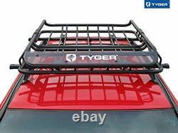 Tyger Heavy Duty Roof Mounted Cargo Basket Rack L47.25 X W36.6 X H5.9 Roof T