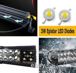 Upper Bumper Grille Mount Led Light Bar Kit Pour 03-06 Gmc Sierra 1500 2500 3500