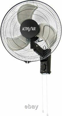 Ventilateur De Montage De Mur Oscillant 16in Cadre En Acier En Métal Silencieux Refroidissement De L'air Lourd